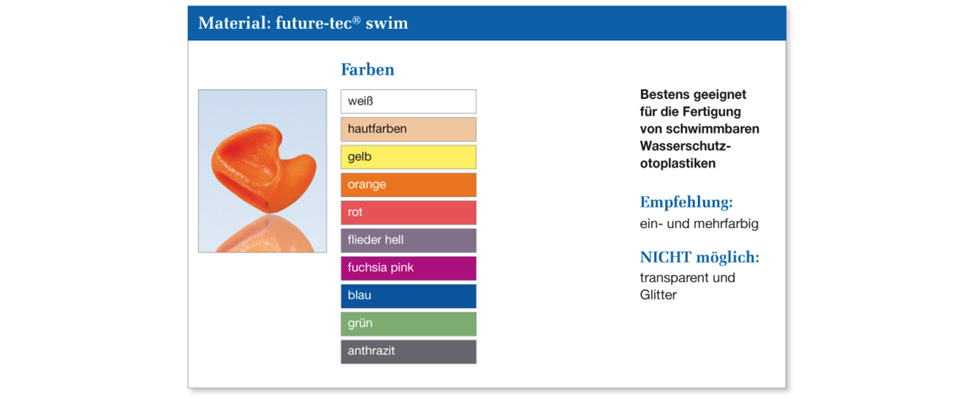 Farbkarte Schwimmschutz