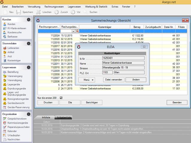 Software Screenshot Asego