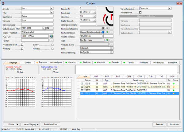 Screenshot Asego Software