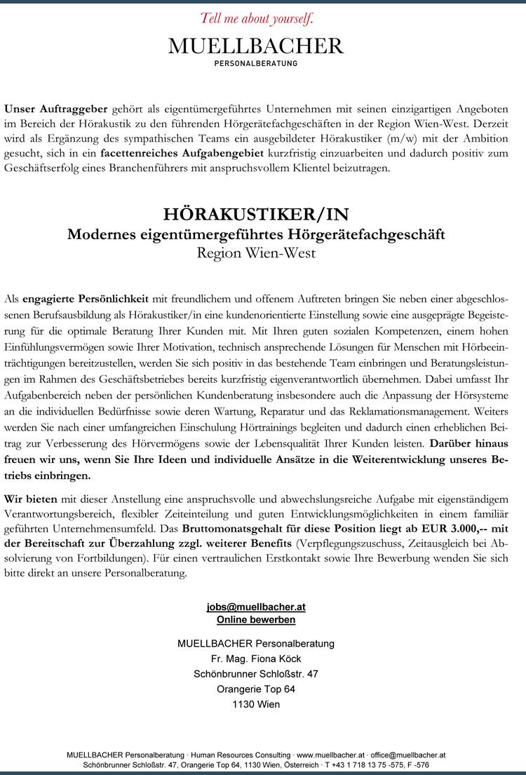 20180919 Stellenangebot Muellbacher