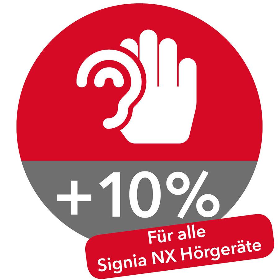 10% mehr Hörbarkeit