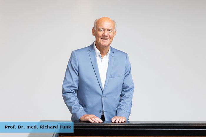Prof. Dr. med. Richard H.W. Funk beschrieb in seinem Vortrag die Auswirkungen des Lichtes auf das Auge.