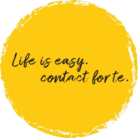 Mit contact forte volle Kraft voraus ins Leben