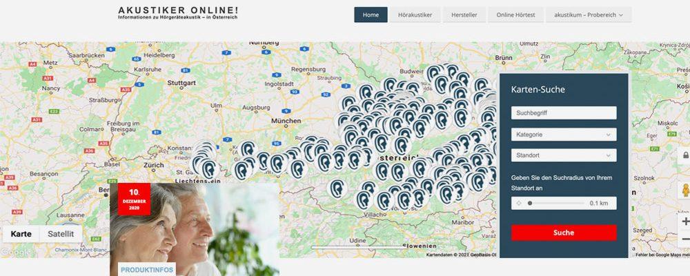 Relaunch der österreichischen Hörakustikerplattform www.akustiker.at