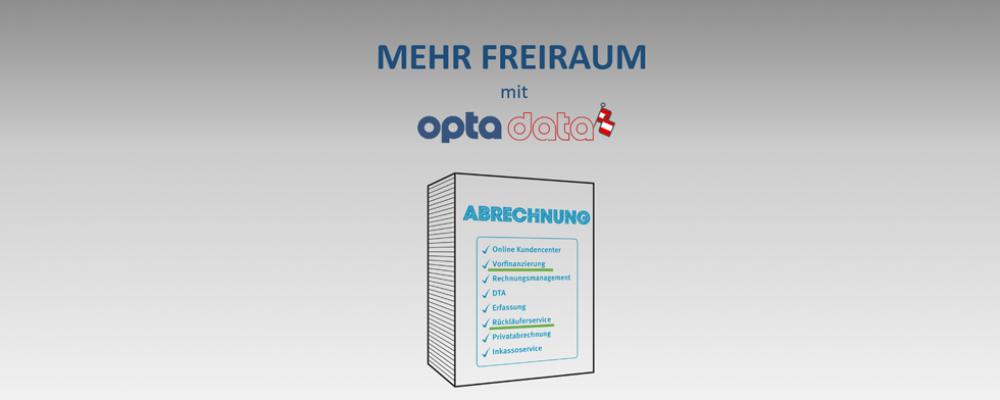 Planbare Zahlungseingänge mit opta data als Abrechnungspartner!